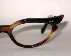Winged Cat Eye Glasses.  50s Vintage Eyeglasses. New Old Stock