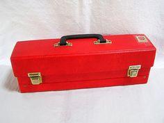 70er Cassetten Koffer MC / Rot in von DreamlandofElves auf Etsy