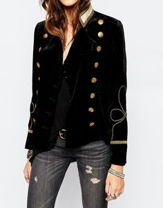 Chaqueta militar de terciopelo de Denim & Supply By Ralph Lauren