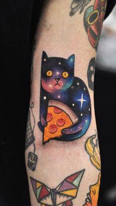 Pizza Cat Tattoo