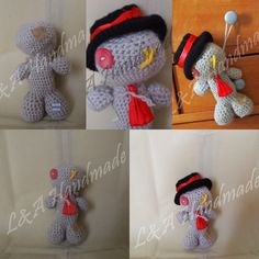 Muñeco vudu amigurumi // Amigurumi Voodoo Doll  #Amigurumi #Doll #Halloween #Doll #Gift #Regalo #Ganchillo #Crochet  www.lanasyamiritagumis.blogspot.com