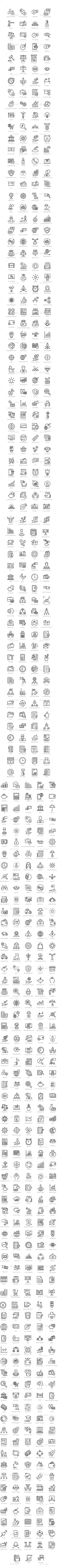 606 Finance Line Icons - Icons