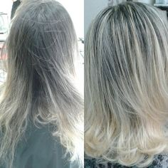 WEBSTA @ danubiacos - Mechas iluminadas e longbob#hairdresser #hairlights #hairstyles  #hairstylist #hairstyling #blonde #longbob #cuthair #hair #blondehair #loiro #cabelo  #salaodebeleza  #salaoemsantos  #wella #mechas #balayage