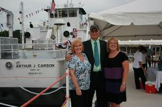 Ann, Art and Michele Carson at the towboat christening, Nashville, September 2010