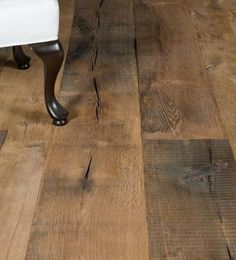 The old factory is a range of solid oak flooring which shows all the characteristics of a real reclaimed old factory flooring while new. The flooring shows marks of a flooring that has stood the test of time: planks a. Wood Parquet, Wooden Flooring, Hardwood Floors, Versailles, Style Français, Old Factory, Solid Oak, Decoration, Plank