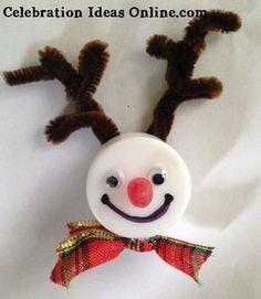 #Christmasornament craft.. Make a REINDEER from a tealight