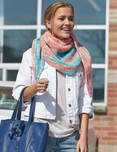 Knitting fashionistas are sure to love the simple, elegant look of the City Wrap.  Designed as a charming accent piece, this pattern will flatter most body types.