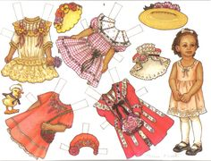 Paper Dolls THERESA BORELLI did for Martha Pullen Company.  These are from calendars and are digest versions of sets that originally appeared in Sew Beautiful and Fancywork magazines.