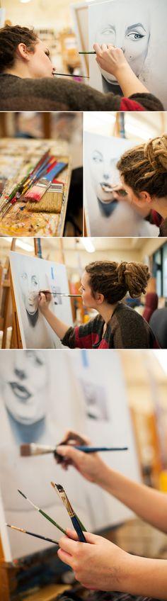 Grace / artist portrait - Alyssa Joy Photography