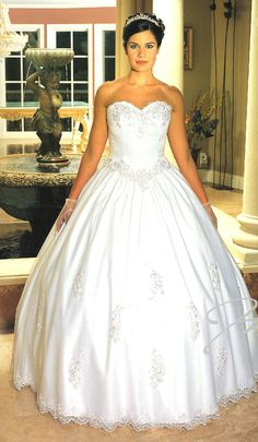 Cotillion Dresses<BR>Wedding Dresses by MELODY Collection<BR> 403<BR>Sweetheart Chic!