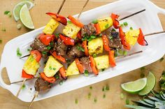 Hawaiian Pork and Pineapple Kabobs.. Defiantly gonna try this one
