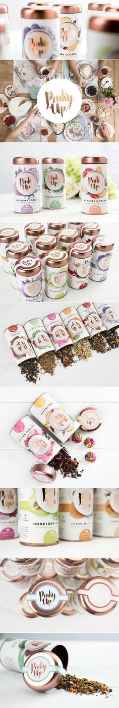 Pinky Up Tea — The Dieline - Branding & Packaging Design