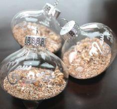Cute Beach Sand Ornaments and DIY Tutorial