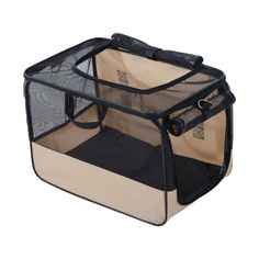 Pawhut 18' Soft-Sided cat Travel Carrier - Beige and Black > You will love this! More info here : Cat Cages, Carrier and Strollers