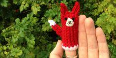 Crochet Fox Ears   What Does the Fox Say? Free Finger Puppet Crochet Pattern   Bellus ...