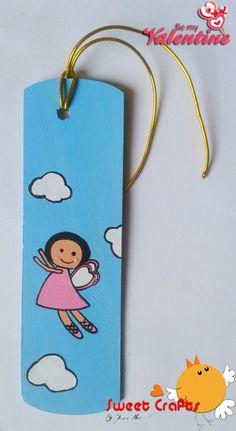 Separador de lectura Angelita en las nubes Un muy tierno separador de lectura para obsequiar a algún amigo o amiga. #bookmarks #angel #valentine #Nicaragua #handmade #pinturacountry Técnica: Acrílico sobre madera