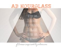 Ab hourglass workout