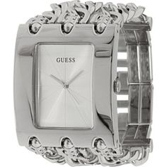 Guess watch cute too! Body Love, Square Watch, Stainless Steel Bracelet, Fashion Watches, Bracelet Watch, Jewelery, Jewelry Accessories, Bling, My Style