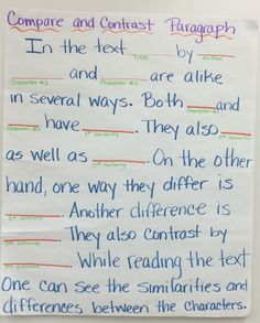 compare contrast essay for elementary students
