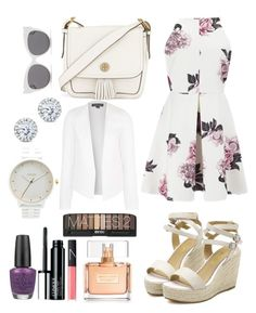 """Pretty"" by vickyyates on Polyvore featuring Cameo, Tory Burch, Blanc & Eclare, Topshop, Kobelli, Nixon, OPI, Clinique, Givenchy and NARS Cosmetics"