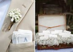 Just had to share the suitcase full of baby's breath...  So precious! So many possibilities!