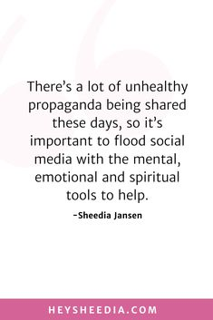 There's a lot of unhealthy propaganda being shared these days, so it's important to flood social media with the mental, emotional and spiritual tools to help. How to build an online coaching business quote Hope Quotes, All Quotes, Quotes To Live By, Boss Lady Quotes, Online Coaching, Daily Affirmations, Feeling Overwhelmed, Business Quotes, Self Development