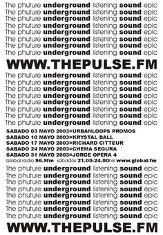 David Hopkins and Carrie Cooper. The Pulse Fm. www.thepulse.fm Global Radio Marbella.  Underground Dance music radio program live radio on the costa del sol. Featuring the best DJ´s from the Costa del Sol and around the World. Krystal Ball Richard Citteur Chema Segura Jorge Fernandez