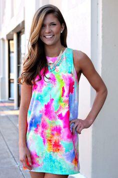 Watercolor Canvas Dress