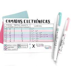 Resumo de Química em ficha Pretty Notes, Cute Notes, Studyblr, School Hacks, I School, Planning School, Stabilo Boss, Study Organization, Entrance Exam