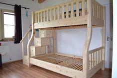 """Zirbenholzhochbett-Etagenbett Modell """"Lisa"""" Kidsroom, Bunk Beds, Lisa, Furniture, Home Decor, Cool Bunk Beds, New Houses, Kid Beds, Model"""