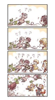 Anime Chibi, Kawaii Anime, Manga Anime, Anime Art, Slayer Meme, Demon Slayer, Anime Bebe, Demon Hunter, Cute Comics