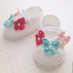 Купить Пинетки туфельки - белый, пинетки, пинетки для новорожденных, пинетки в…