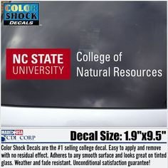 NC State Wolfpack College of Natural Resources Decal