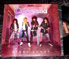 Cinderella – Night Songs W/ Jon Bon Jovi Doing back up Lp Vinyl Record FREE SHIP #GlamsleezeMetal