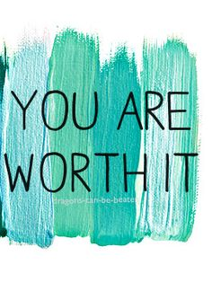 You are worth it. You are worth fighting for. Worth being loved. Promise. #depression #recovery
