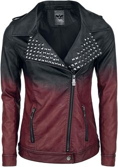 fda55aa812a2ee Black Premium by EMP Dip Dye PU-Jacket Girl-Jacke bordeaux/schwarz XL:  Amazon.de: Bekleidung