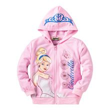 New High Quality Princess Hoodies Christmas Children Clothing Coats Girls Long-sleeve Sweatshirts Baby&Kids Cosplay Costume(China (Mainland))