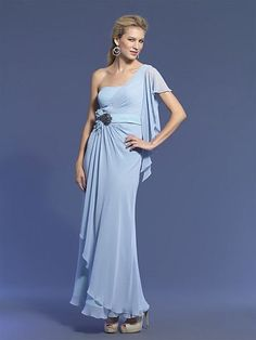Dave and Johnny Ice Blue Beaded Chiffon Prom Dress 7629 only $293.02405 lastgown.com