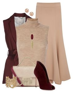 """""""What a Maroon"""" by tinayar on Polyvore featuring Jonathan Simkhai, ..,MERCI, T By Alexander Wang, Gianvito Rossi, Kendra Scott, Bloomingdale's and Bonnie Star"""