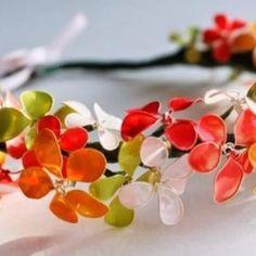 Tuto : fabriquer des fleurs avec de vieux vernis à ongles
