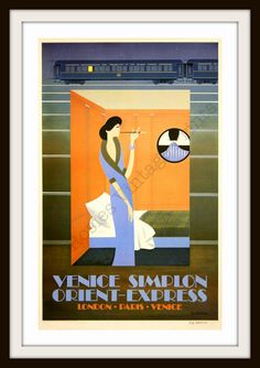 Vintage Travel Poster  Orient Express Woman by RosiesVintagePrints, $25.00
