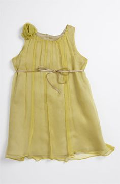 Marie-Chantal Chiffon Flower Dress (Toddler) available at Nordstrom - says it's 'lime' - also pricey, but so cute!