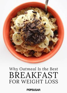 Another reason to love oatmeal — it's great for weight loss! We love it for breakfast.
