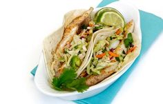 Amberjack Fish Tacos With Zesty Slaw And Avocado Cream Recipe - Everyone Loves Tacos Try This Recipe For Amberjack Fish Tacos Complete With A Zesty Slaw And Mouth Watering Avocado Cream Sauce Recipe Provided By Louisiana Kitchen And Culture Magazine Prehe Louisiana Seafood, Louisiana Recipes, Southern Recipes, Louisiana Kitchen, Southern Food, Louisiana Creole, Slaw Recipes, Fish Recipes, Seafood Recipes