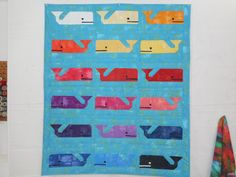 """Preppy the Whale quilt - 45"""" x 53' by carmenjass on Etsy"""
