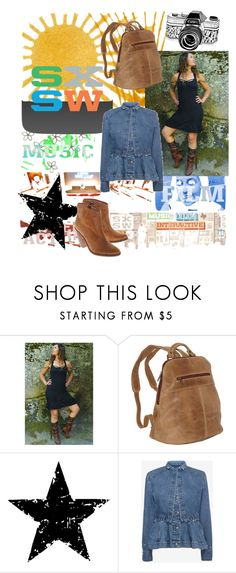 """""""scattered SXSW"""" by bensgirly ❤ liked on Polyvore featuring WALL, Le Donne, Tim Holtz, Alexander McQueen, festivalstyle, Packandgo and SXSW"""