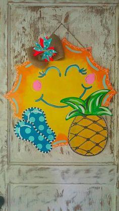 Summer Door Hanger, Beach Ball Door Hanger By ReLoved Treasure, Pool Door  Hanger, Door Hanger, Summer Wreath, Spring Door Hanger