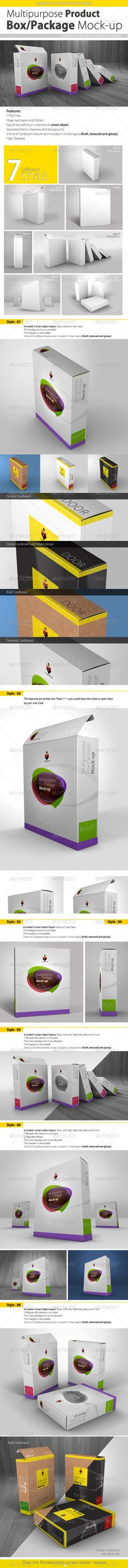 Multipurpose Product Box/Package Mock ups Create a realistic display for your packaging design in few seconds. this mock up suitable for lot of section like Softwares, with This scale.