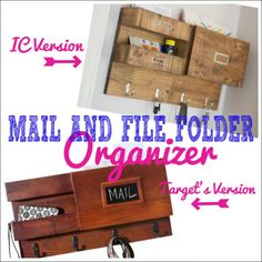 DIY Home Projects | Organization | Find out how to build your own mail and file folder wall organizer from scrap wood!