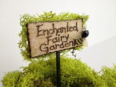 Enchanted Fairy Garden Sign